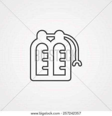 Oxygen Tank Line Icon Vector Photo Free Trial Bigstock