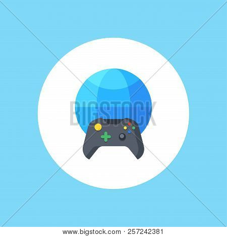 Online Game Icon. Vector Design. Gaming, Game Symbol. Web. Graphic. Jpg. Ai. App. Logo Object Flat I