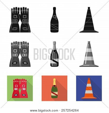 Vector Illustration Of Car And Rally Symbol. Set Of Car And Race Stock Vector Illustration.