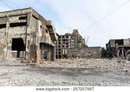 Abandoned Gunkanjima in Nagasaki city