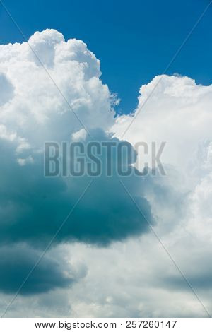 Colorful, Blue And White Clouds Detail And Sky