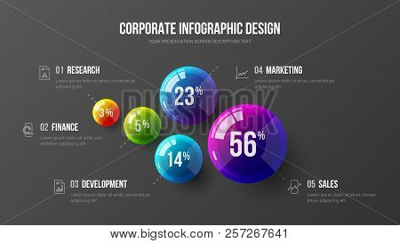 Amazing Business Infographic Presentation Vector Illustration Concept.  Corporate Marketing Analytic
