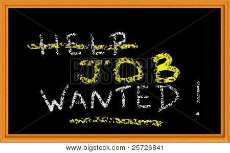 help wanted on chalkboard