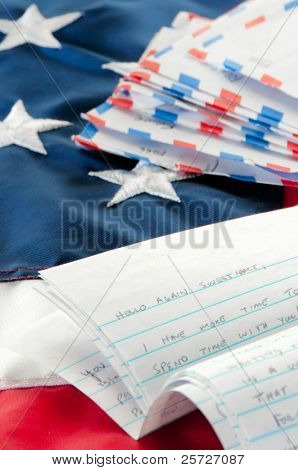 Love letter written to deployed soldier