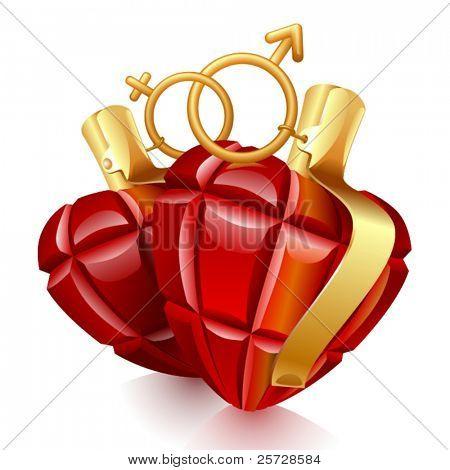 Two grenade hearts