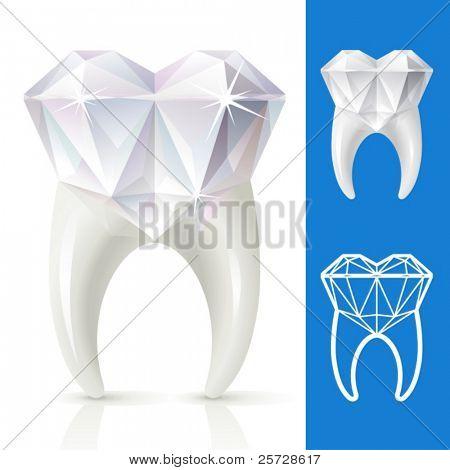 Teeth strong, as diamond