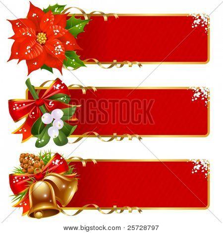 Christmas horizontal background set