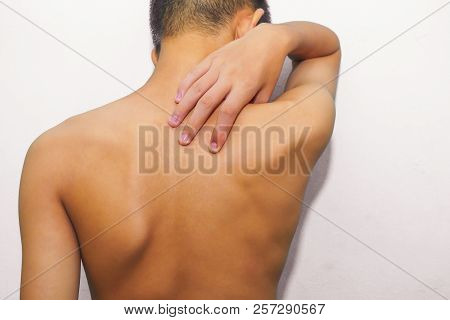 Shoulder Pain Must Be Treated Correctly To Disappear. Sport Injury, Man With Back Pain. Pain Relief