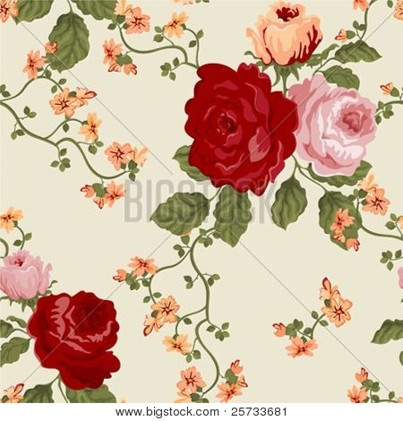 Seamless background with a flowers