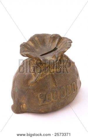 Old Piggy Bank In Form Of Purse