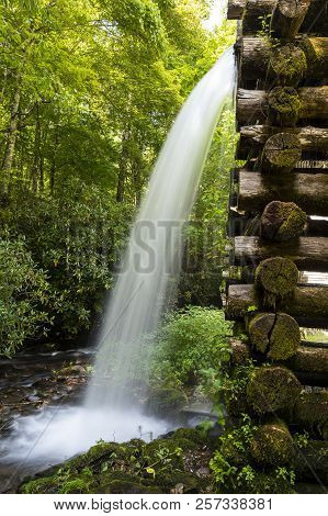 A Flume Of An Old Grist Mill.