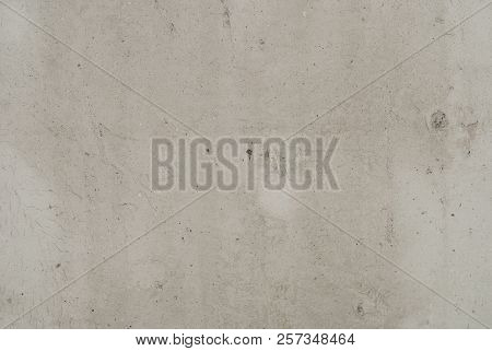 Surface Of Concrete Gray Wall Photographed Close-up
