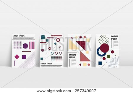 Bauhaus Design. Book Cover For Brochure Design. Minimal Vector Cover. Modern Design Template. Yellow