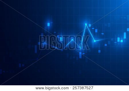 Trading Graph. Business Candle Stick Graph Chart Of Stock Market Investment Trading Design. Trading