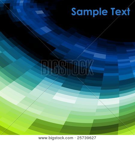 Blue and green vector mosaic background.