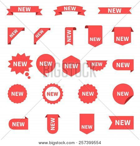 New Sticker Set Labels. Product Stickers With Offer. New Labels Or Sale Posters And Banners. Sticker