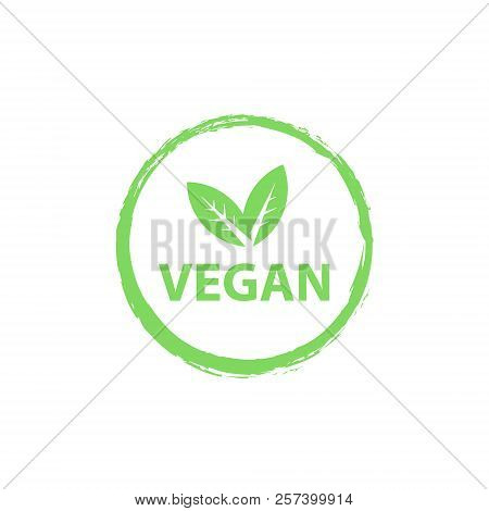 Vegan Logo, Organic Bio Logos Or Sign. Raw, Healthy Food Badges, Tags Set For Cafe, Restaurants, Pro