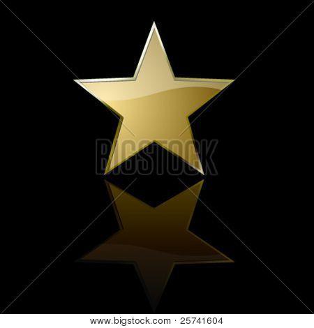 Golden star in the dark
