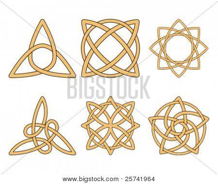 Vintage ornaments. Celtic knots