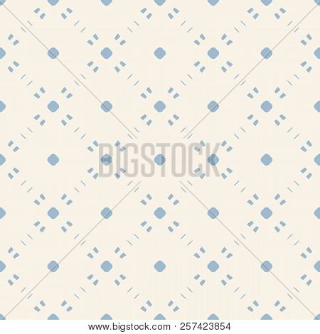 Subtle Vector Minimalist Background. Simple Geometric Seamless Pattern With Tiny Elements, Circles,