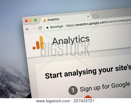 Amsterdam, The Netherlands - September 9, 2018: Website Of Google Analytics, A Freemium Web Analytic