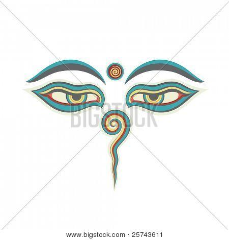 eyes of Buddha, vector