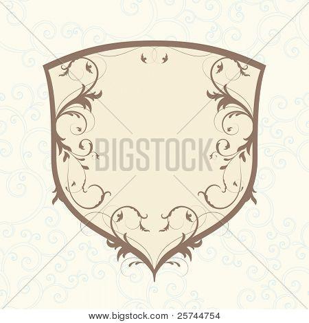 glamour emblem, vector