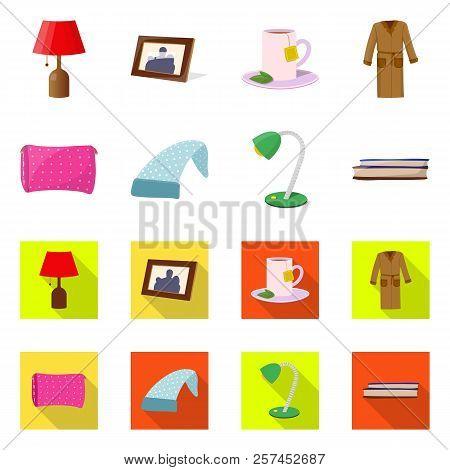 Vector Illustration Of Dreams And Night Symbol. Collection Of Dreams And Bedroom Stock Vector Illust