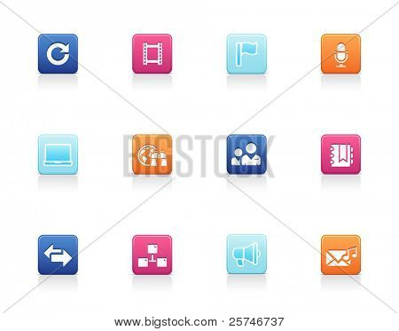 Social and media icons