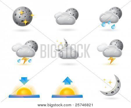 Weather icons, night