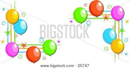 Balloon Corner Borders
