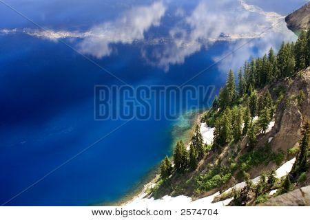 Blue Water Crater Lake National Park Oregon