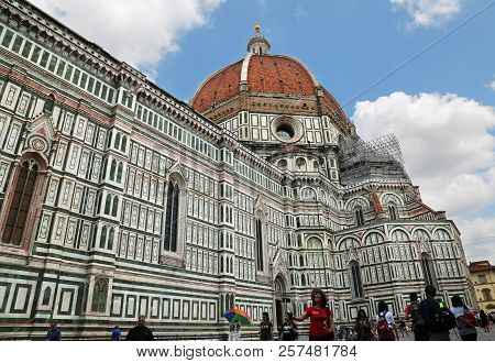 Famous Florence Cathedral In Florence, Tuscany, Italy