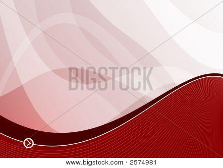 Red Wave Background Landscape