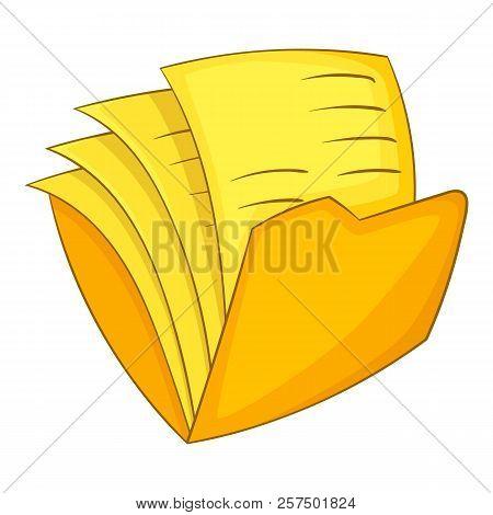 Office Folder Icon. Cartoon Illustration Of Office Folder Icon For Web