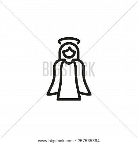 Christmas Angel Line Icon. Decoration, Spiriatuality, Faith.holiday Concept. Vector Illustration Can
