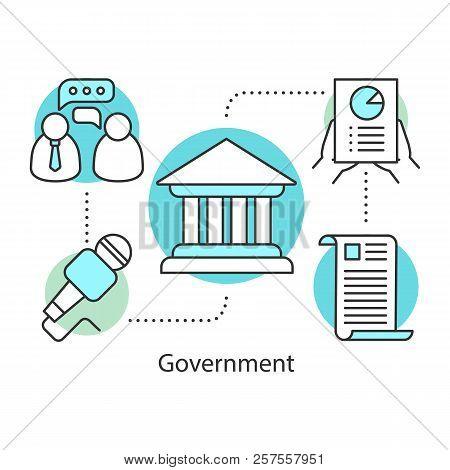 Government Concept Icon. Politics Idea Thin Line Illustration. Publicity. Political Campaign. Govern