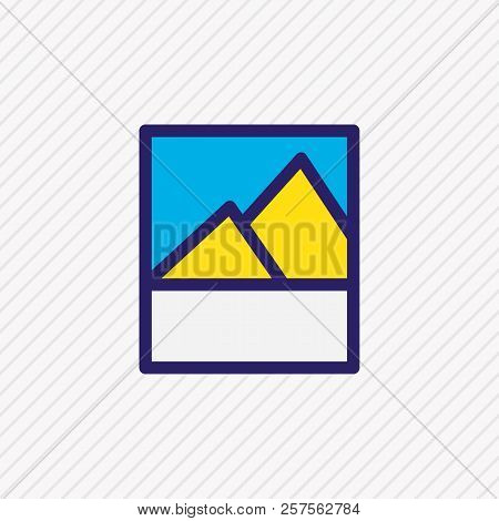 Illustration Of Image Icon Colored Line. Beautiful App Element Also Can Be Used As Picture Icon Elem