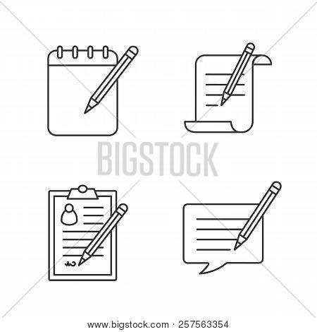 Writing Pencil Linear Vector Photo Free Trial Bigstock