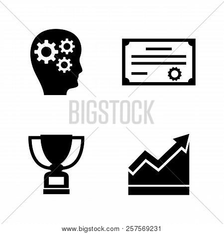 Career Progress. Simple Related Vector Icons Set For Video, Mobile Apps, Web Sites, Print Projects A
