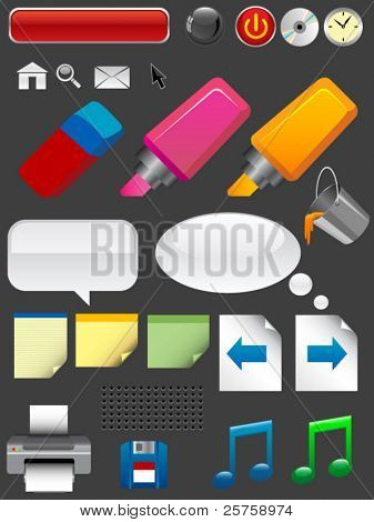 cool icon set. vector
