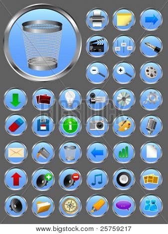 Vector realistic icons #1