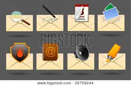 realistic vector mail icons #1