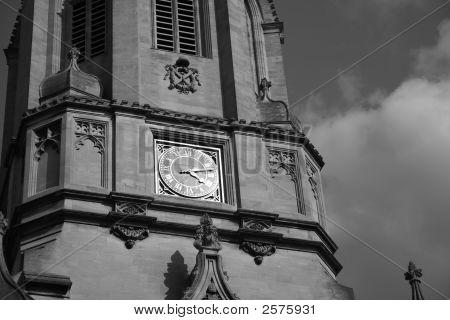 Tom Tower Detail Bw