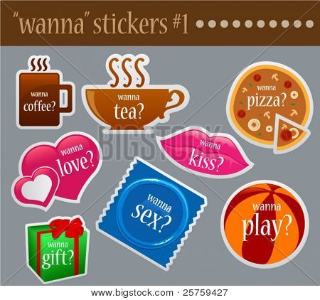Wanna fun stickers