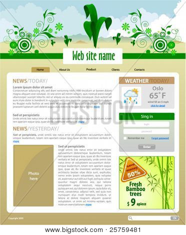 Plants Site Template - Home page #1