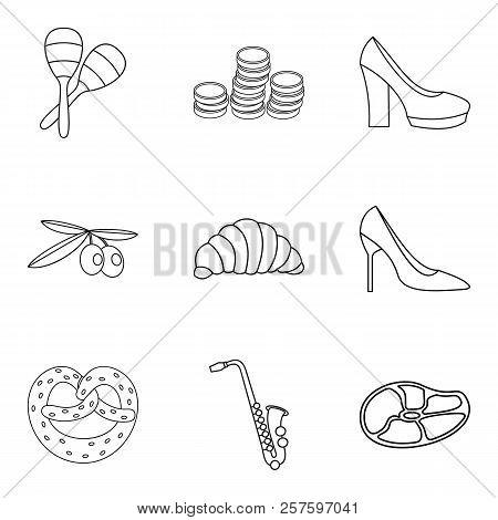 Faithfully Icons Set. Outline Set Of 9 Faithfully Icons For Web Isolated On White Background