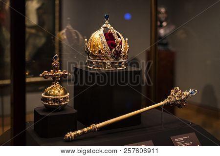 3 September 2018, Vienna, Austria: Treasury Of The Habsburg Dynasty Museum Hofburg Palace In Vienna