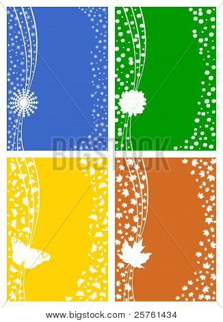 Four seasons - winter, spring, summer, autumn.