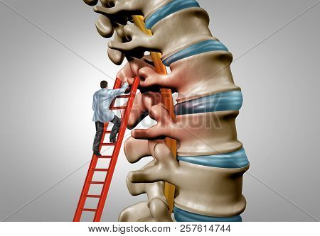 Spine Therapy And Spinal Stenosis Medical Surgery Concept As A Degenerative Illness Surgery In The H
